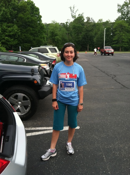 Before the Chick fil-A 5K. My first run ever.