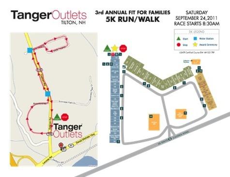 Tanger Outlets 5K Run Walk race map