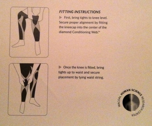 CW-X tights instructions