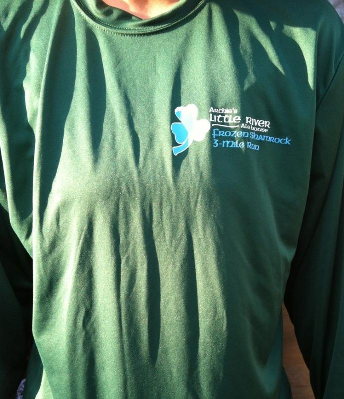Frozen Shamrock 3-Mile Run. Haverhill, MA. February 26, 2012